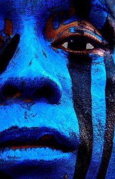 luluzinha kids ❤ tUdo aZul - Tribal face paint