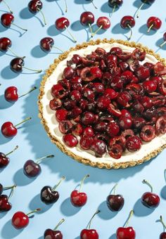 Fourth of July recipes! Cherry tart, fireworks cookies, blueberry pie, flag cake and more.