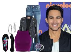 """Carlos Pena, Jr."" by myamane ❤ liked on Polyvore"