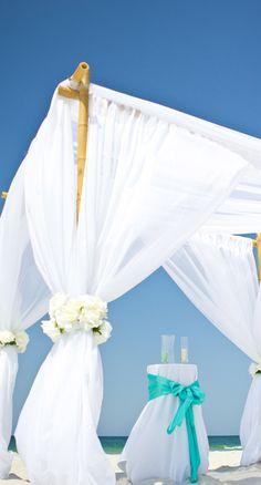 bamboo arbor for beach wedding gin Destin florida