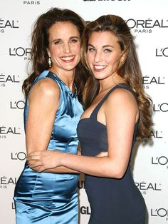 Andie MacDowell with her oldest daughter Rainey Qualley.