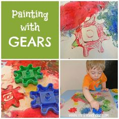 Painting with Gears { Oh I love this! }