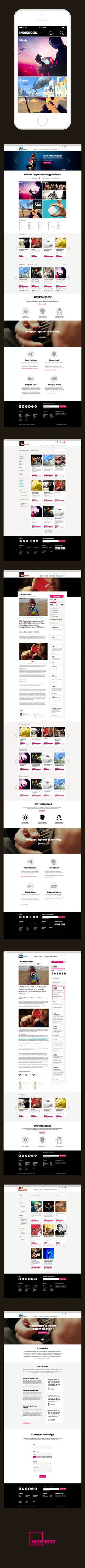 Indiegogo by Moosesyrup, via Behance