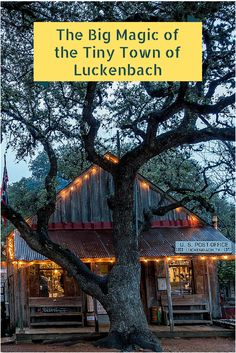 Luckenbach, Texas, is a charming two-building town filled with music and fun | The Big Magic of the Tiny Town of Luckenbach