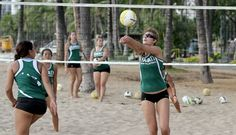 First day of the first season of a brand new NCAA sanctioned sport! Beach... no... SAND Volleyball.
