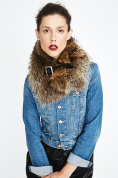 Raccoon Chelsea Fur Collar