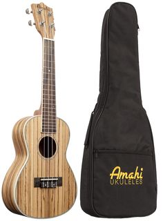 The UK330 ukulele is a beautiful Zebrawood constructed ukulele from Amati's Classic series of ukuleles. Features all Zebrawood construction with sealed die-cast tuners, and an included padded gig bag.