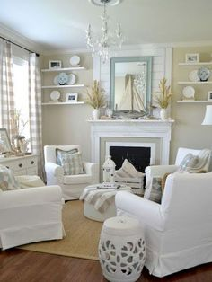 Cozy coastal living room decorating ideas (32)