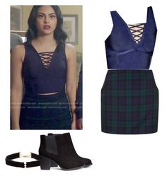 Veronica Lodge - Riverdale by shadyannon on Polyvore featuring polyvore fashion style Topshop H&M Anissa Kermiche clothing