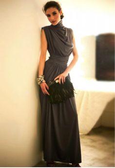 elegantly draped in grey~