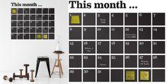 Ferm Living Kalender Wandsticker // Kantoor Wishlist