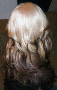 Reverse ombre...This is how I do my hair, but I add colors to the ends.