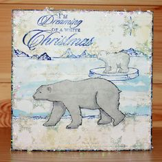 Christmas has arrived at Hobby Art! Introducing 'Poles Apart' New Size Clear set contains 14 stamps. Designed by Sharon Bennett. Card by Anna Flanders Easel Cards, Art Cards, Baby Polar Bears, Clear Stamps, A5, Christmas Cards, Moose Art, Card Making, Paper Crafts