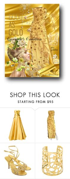 """""""Journi's """"Good As Gold"""" Stay Gold"""" by carmen-ireland ❤ liked on Polyvore featuring Alexis Mabille, Lillie Rubin, Sergio Rossi and Marc Jacobs"""