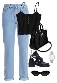"""Untitled #4679"" by magsmccray ❤ liked on Polyvore featuring Moschino, Balenciaga and CLUSE"