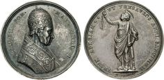 """NumisBids: Numismatica Varesi s.a.s. Auction 65, Lot 842 : LEONE XII (1823-1829) Med. A. I """"Indizione Anno Santo"""" Ag Ø 43..."""