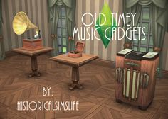 TS4: Old Timey Music Gadgets (Functional) - History Lover's Sims Blog