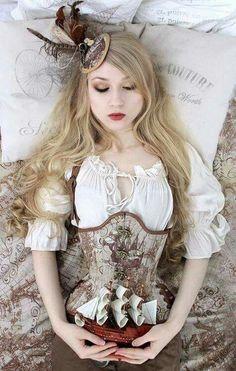Steampunk Sleeping Beauty Model: Absentia