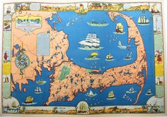 Cape Cod, Barnstable County, Mass, Reproduction - Antique Maps and Charts – Original, Vintage, Rare Historical Antique Maps, Charts, Prints, Reproductions of Maps and Charts of Antiquity