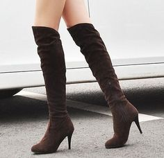 2015 new arrive motorcycle boots platforms thin heels over the knee boots high quality fashion women winter boots big size