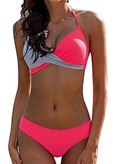 2018 New Sexy Bikini Push Up Swimwear Women Swimsuit Retro Vintage Bikini Set Beach Plus Size Bathing Suit Tassel Dot Beach Wear Sexy Bikini, Push Up Bikini, Bikini Sets, Pink Bikini, Bikini 2018, Thong Bikini, Strap Bikini, Bikini Jaune, Haut Bikini