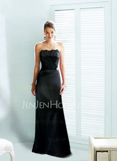 Bridesmaid Dresses - $111.99 - Glamorous A-Line/Princess Strapless Floor-Length Satin Bridesmaid Dress With Ruffle (007004181) http://jenjenhouse.com/pinterest-g4181