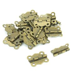Shop for Unique Bargains 20 Pcs Bronze Tone Metal Door Butt Hinge Hardware for Window Cupboard Drawers. Get free delivery On EVERYTHING* Overstock - Your Online Home Improvement Shop! Butt Hinges, Cupboard Drawers, Home Improvement, Hardware, Bronze, Windows, Doors, Metal, Unique