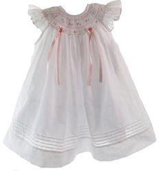 Willbeth Infant Baby Girls White & Pink Smocked Angel Bishop Portrait Dress (3M) Willbeth http://www.amazon.com/dp/B00M9CR870/ref=cm_sw_r_pi_dp_Urhavb0G9S0PX