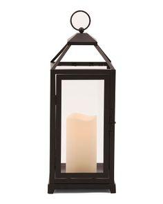 15in Metal LED Lantern