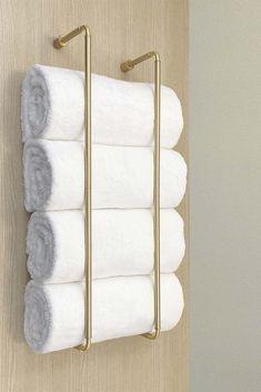 Bathroom Towel Storage, Towel Shelf, Bathroom Towels, Small Bathroom, Bath Towel Racks, Towel Holder For Bathroom, Towel Racks For Bathroom, Bath Rack, Towel Rod