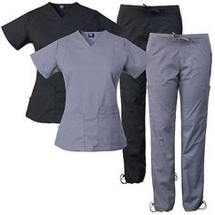 bab47d78688 Sets 105432: Medgear 10-Pocket Women'S Stretch Medical Scrubs Set Top And  Pants 7899