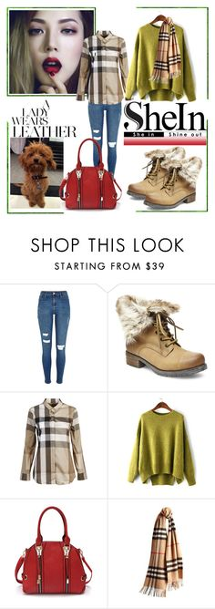"""""""Untitled #35"""" by imajaa ❤ liked on Polyvore featuring Steve Madden, Burberry, women's clothing, women, female, woman, misses and juniors"""
