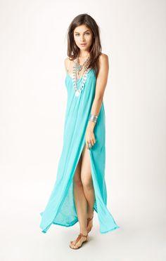 Blue life festival maxi dress