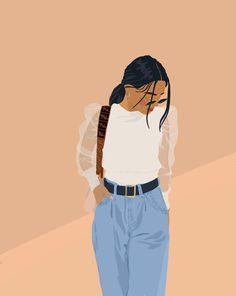 Illustration Mode, Portrait Illustration, Digital Illustration, Cartoon Girl Drawing, Girl Cartoon, Art Sketches, Art Drawings, Desenhos Harry Potter, Arte Sketchbook