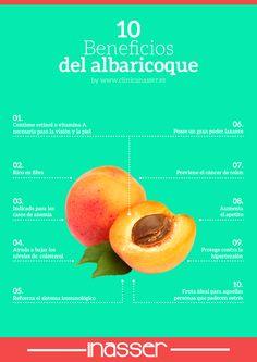 Beneficios del albaricoque by www.clinicanasser.es