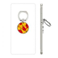 Canvas Flowers Plant Painting Corn Poppy Cell Phone Ring Stand Holder Bracket Universal Smartphones Support Gift #Bracket #CornPoppy #Phoneholder #RedAndYellowFlower #Phoneaccessories #Opium #PhoneStand #Decoration #Ringholder #PhoneRing