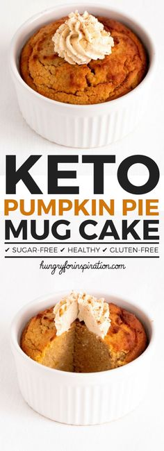 Can you believe this Pumpkin Pie Keto Mug Cake actually Low Carb? I couldn't either! But it is an actual Keto Dessert with only 5.7g net carbs per serving that tastes just like real pumpkin pie! Make yourself a well deserved Keto Snacks & Low Carb Desserts. (Keto Pumpkin Recipes) #keto #ketodiet #ketorecipes #ketogenic #ketogenicdiet #ketodessert #lowcarb #lowcarbrecipes #mugcake #pumpkinrecipes