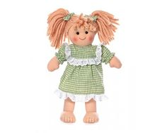 This fun little rag doll will occupy any little ones time with fun. This is Julia. She has yarn blonde hair, white bloomers and a green ging...