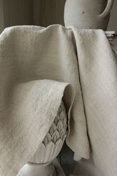 Lovely antique fabric from Europe ~ wonderful old homespun hemp ~ Lovely natural tone ~ organically produced ~ www.textiletrunk.com
