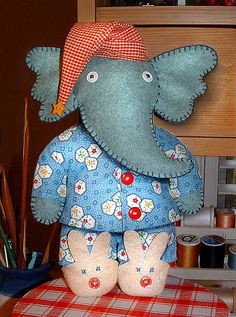 omgoodness... elephant in pjs!