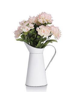 Artificial Peonies with Jug | M&S