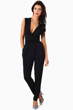 Hayley Deep V Jumpsuit, (not the shoes)