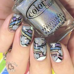 NailsLikeLace: The Digit-al Dozen does Spring Day 4 & A Weekly Dose of Rainbows: 2-for-1 Mani - Holo Rainbows