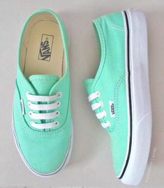 Mint Green Nike Shoes, Teal Nike Shoes, Cute Nike Running Shoes, Vans Mint, Teal Vans, Nike Free Shoes, Pastel Vans, Mint Green Converse, Mint Green Outfit