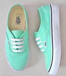 Mint Green Nike Shoes, Teal Nike Shoes, Cute Nike Running Shoes, Vans Mint, Teal Vans, Nike Free Shoes, Pastel Vans, Mint Green Converse, Mint Green Outfit