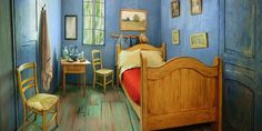 """Vincent Van Gogh created what is arguably one of the most recognizable bedrooms in history, and one clever Airbnb owner has recreated it in real life. The private room in Chicago, Illinois, follows the true Post-Impressionist style of Van Gogh's """"The Bedroom,"""" but with a few more modern amenities.  Rent it here."""