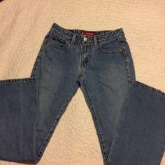 Levi's super low boot cut Destress jeans 84% cotton , 16 polyester . Jeans .31 inseam,518 super low boot cut . 7jJR length  m 30 waist . Levis Jeans Boot Cut