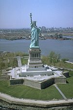 I saw the Statue of Liberty when I was a child. We didn't go inside, just rode a ferry boat around the island.