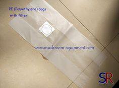 mushroom equipment,mushroom equipment,growing mushrooms indoors: Breathable Polyethylene bags with filters, PE filt...