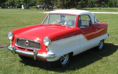 Nash Metropolitan, a marvelous small car from a time when there was little demand for such.